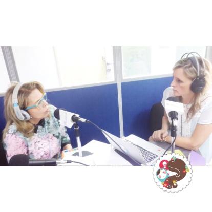 Vanessa Marcano e Ileana De La Rosa en cabina