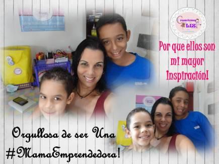 Lizmar junto a sus hijos Gabriel y Rammses